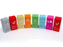 Caixas rectangulares em cartolina para NATAL