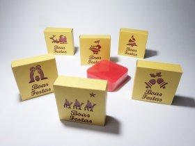 Sabonete em caixa cartolina Tema Natal