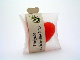 Cora‹o Pequeno + Cinta decorativa fina com impress‹o a cor