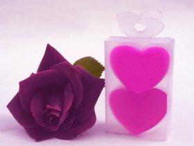 2x Sabonetes Coração pequeno (forma)