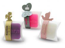 Sabonete Pequeno + Cinta fina com topos