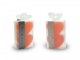 2x Small Heart Soap + Thin Strap