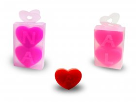 2x Small Heart Soap